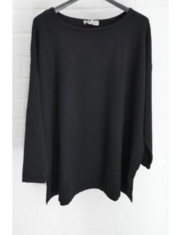 ESViViD Damen Pullover schwarz black Onesize ca. 38 - 48 mit Viskose 7068