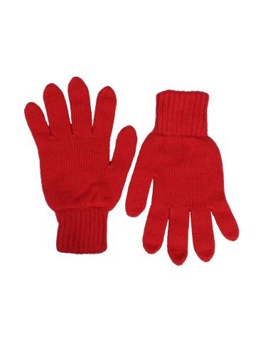 Zwillingsherz Handschuhe Fingerhandschuhe Classic rot feuerrot mit Kaschmir