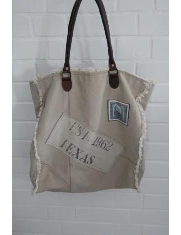 """Schultertasche Damen Tasche Einkaufstasche """"Alter Postsack"""" Leder"""