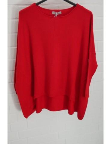 ESViViD Damen Pullover rot red Rundhals Onesize ca. 38 - 46 mit Viskose 7050