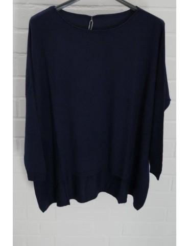 ESViViD Damen Pullover dunkelblau marine blau Rundhals Onesize ca. 38 - 46 mit Viskose 7050