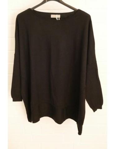 ESViViD Damen Pullover schwarz black Rundhals Onesize ca. 38 - 46 mit Viskose 2232