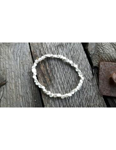 Damen Armband silberfarben silver Dreiecke elastisch Metall