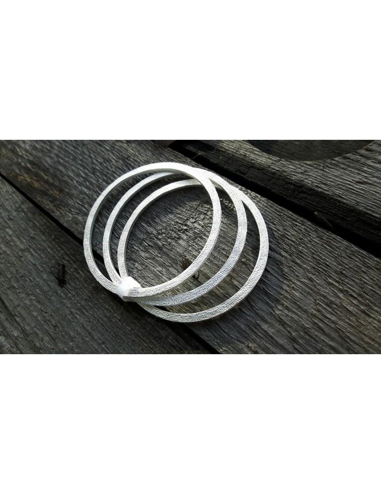 Damen Armreif Armband silberfarben silver 3er Set Metall