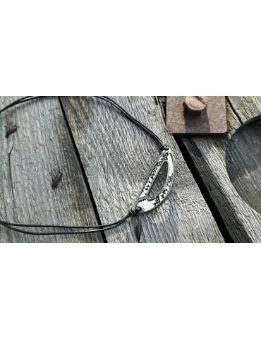 Bijoux Modeschmuck Kette Halskette Damen schwarz beige Schlange