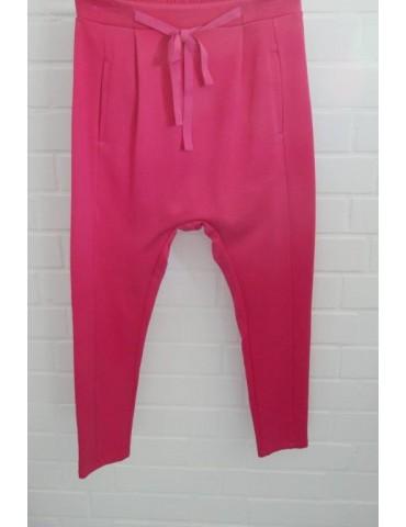 ESViViD Bequeme Sportliche Damen Hose Baggy fuchsia pink uni 644