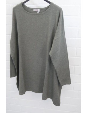 ESViViD Damen Pullover khaki oliv grün Onesize ca. 38 - 48 mit Viskose 7068                          68