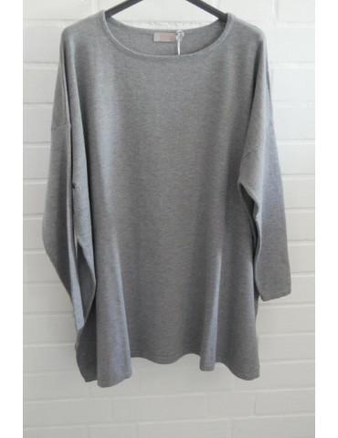 ESViViD Damen Pullover grau grey Onesize ca. 38 - 48 mit Viskose 7068                          68