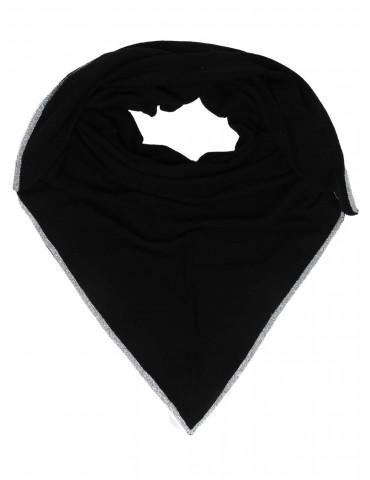 Zwillingsherz Dreieckstuch Schal schwarz black Lurex mit Kaschmir Phili