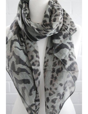 Schal Tuch Loop Made in Italy Seide Baumwolle helloliv schwarz braun Leo