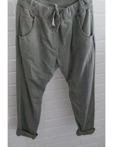 Jogginghose JogPants Damenhose Hose hell oliv verwaschen mit Verstellband