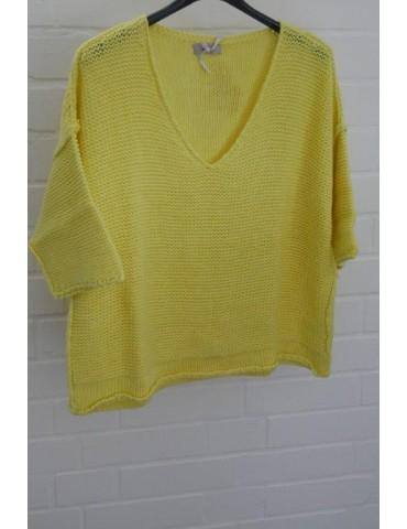 ESViViD Damen Pullover gelb yellow Onesize ca. 38 - 42 mit Baumwolle 13282