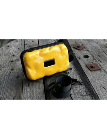 Damen Tasche Schultertasche Crossbag Hartschale gelb
