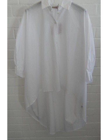 ESViViD Damen Bluse weiß white edel schlicht Basic uni weit Onesize ca. 38 - 50