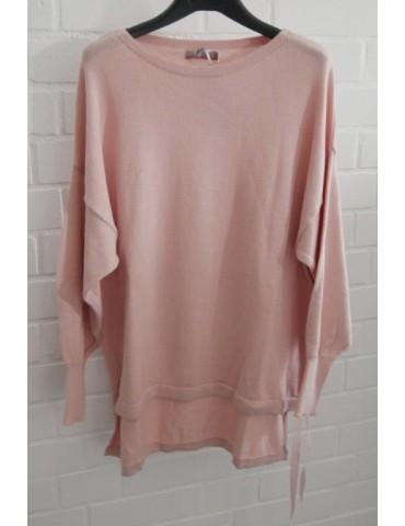 ESViViD Damen Pullover rose rosa Bändchen Onesize ca. 38 - 46 Baumwolle 13261