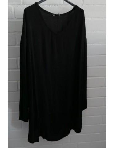 Xuna Damen Tunika Bluse Shirt Kreppstoff schwarz black Viskose Onesize ca. 38 - 44