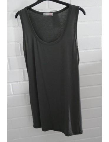 Damen Basic Top Shirt anthrazit grau mit Viskose Onesize 38 - 42
