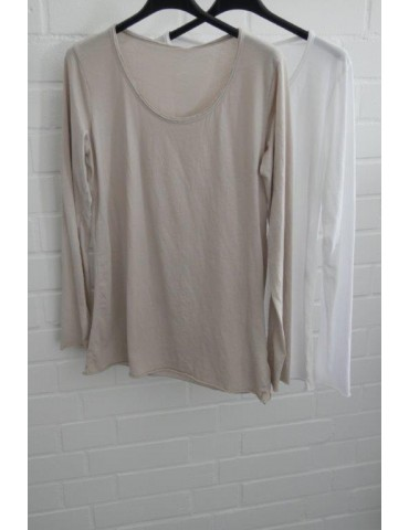 Damen Basic Shirt langarm...