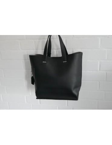 Damen Tasche Schultertasche Kunststoff schwarz...