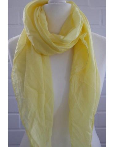 Schal Tuch Loop Made in Italy Seide Baumwolle zitronen gelb weiß Mini Punkte