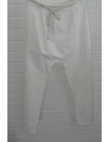 ESViViD Bequeme Sportliche Damen Hose Baggy creme off-white uni 644