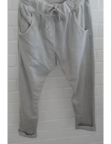 Jogginghose JogPants Damenhose Hose hellgrau grau verwaschen