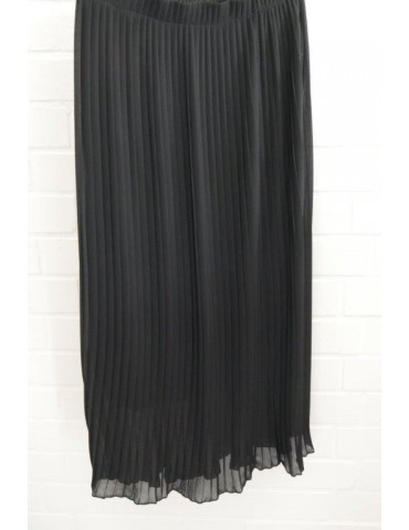 Damen Plissee Rock schwarz black Onesize ca. 38 - 42 Blogger Style