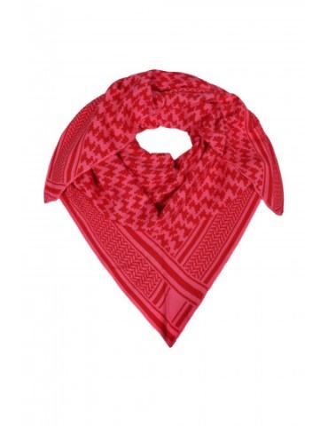 Zwillingsherz Dreieckstuch Schal rot pink mit Baumwolle Hahnentritt