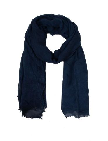 Zwillingsherz Leichter XL Damen Schal Tuch dunkelblau marine Organic Bambus Viskose