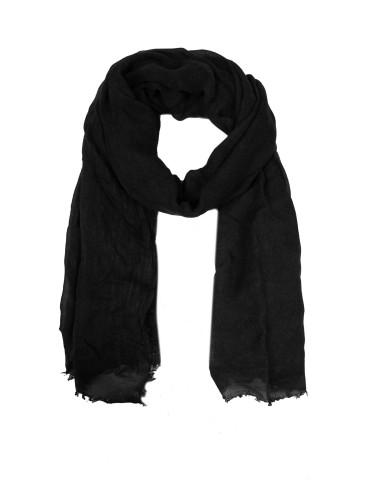 Zwillingsherz Leichter XL Damen Schal Tuch schwarz black Organic Bambus Viskose