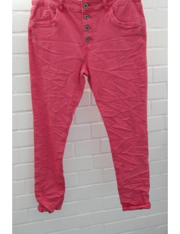 Jewelly Coole Damen Stoff Hose rot red Gr. XL 42 44