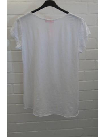 3D Damen Shirt kurzarm weiß...