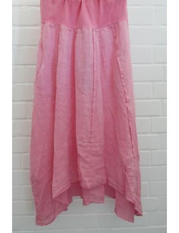 Xuna Damen Leinen Rock pink rot Onesize ca. 38 40 100% Leinen