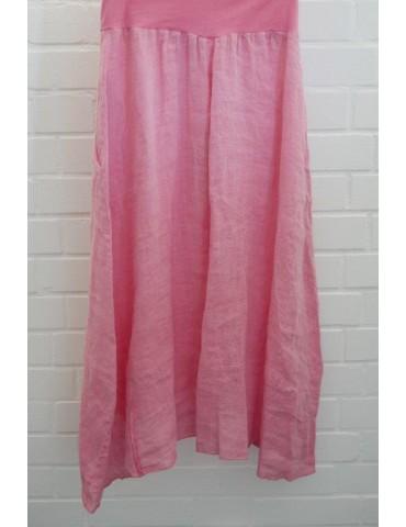 Xuna Damen Leinen Rock pink...