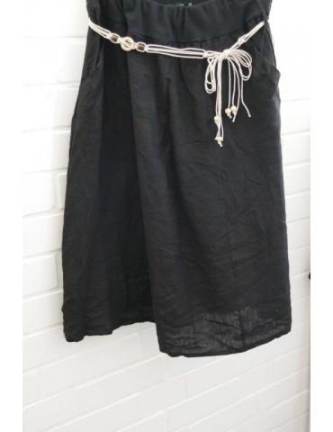 Damen Leinen Rock schwarz black Onesize ca. 38 40 100% Leinen