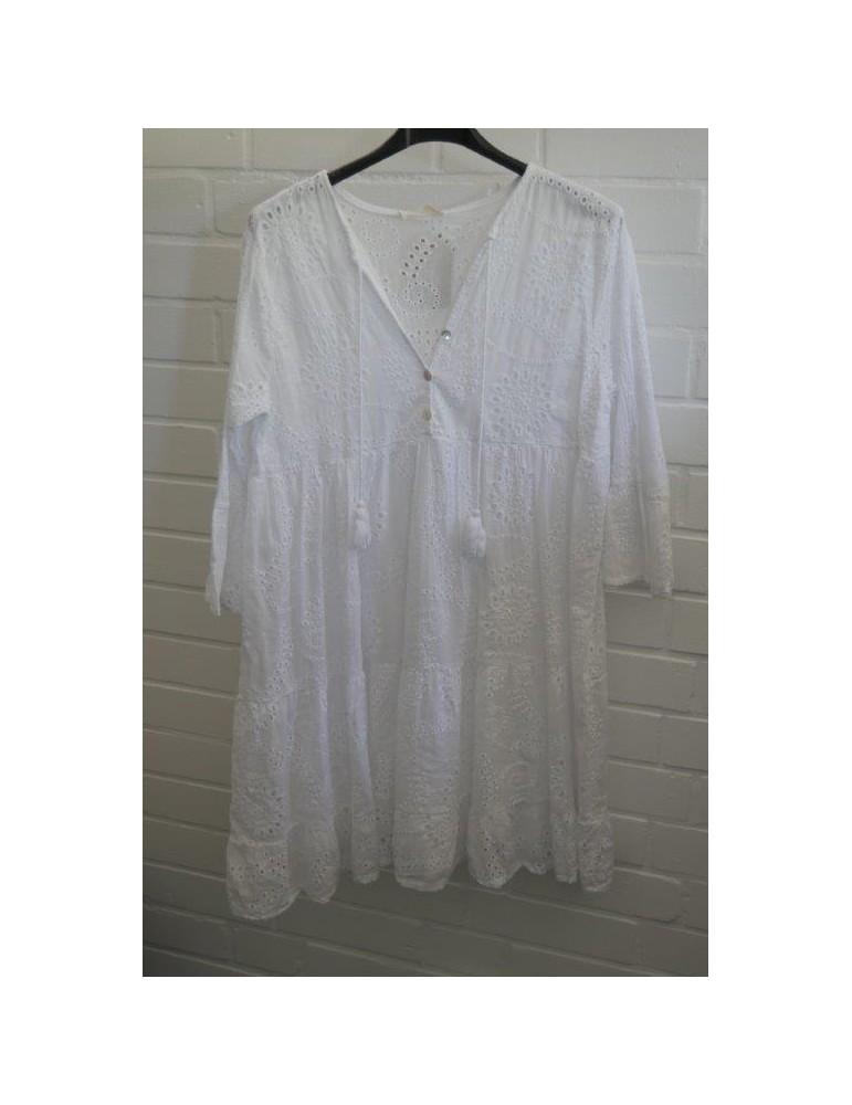 Damen Tunika Kleid verspielt weiß white Onesize ca. 36 ...