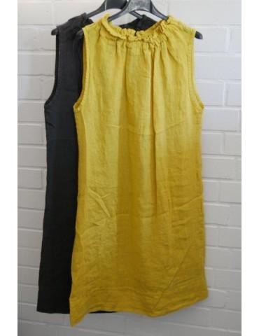 Damen Tunika Kleid gelb...