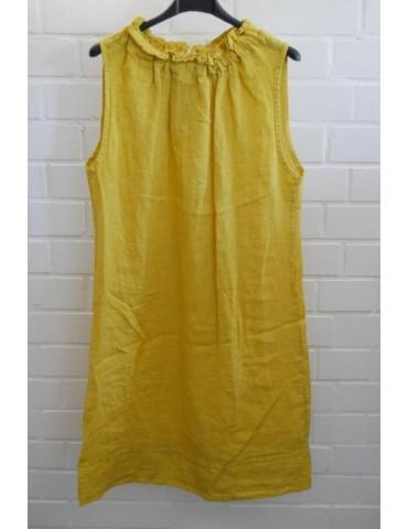 Damen Tunika Kleid gelb 100% Leinen Onesize ca. 36 - 40