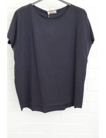 Lindsay Damen Shirt kurzarm dunkelblau marine mit Baumwolle Onesize 38 - 44