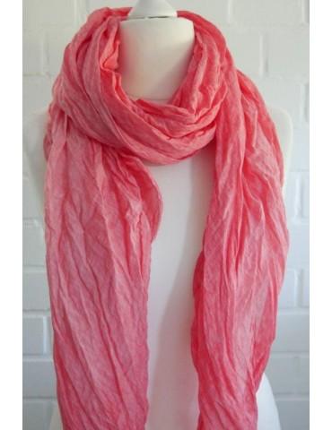 XXL Schal Tuch koralle lachs orange 100% Baumwolle Asymmetrisch Blogger Style
