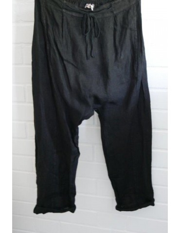 ESViViD Bequeme Sportliche Damen Baggy Hose Leinen schwarz black