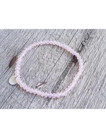 Armband Kristallarmband Perlen rose rosa klar klein Glitzer Schimmer elastisch