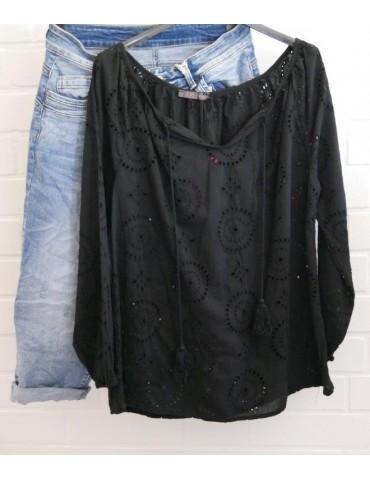 Damen Bluse schwarz black...