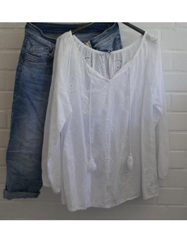 Damen Bluse weiß white...
