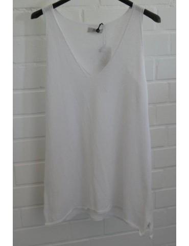Xuna Damen Strick Top Shirt Baumwolle weiß white Onesize 36 - 40