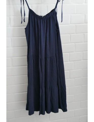 Damen Trägerkleid dunkelblau marine Viskose Onesize ca. 38 - 42