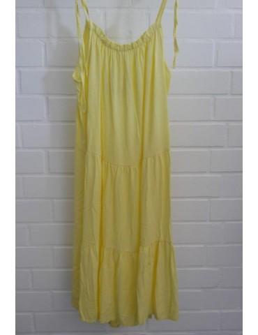 Damen Trägerkleid gelb yellow Viskose Onesize ca. 38 - 42
