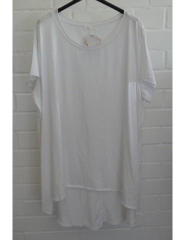 Oversize Damen Shirt kurzarm weiß white Baumwolle Onesize 40 - 48