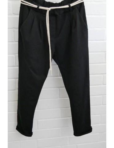 Edle Damen Bundfalten Hose JoggPants Gr. L mit Baumwolle Gr. L 38 40