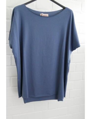 Lindsay Damen Shirt kurzarm jeansblau blau mit Baumwolle Onesize 38 - 44